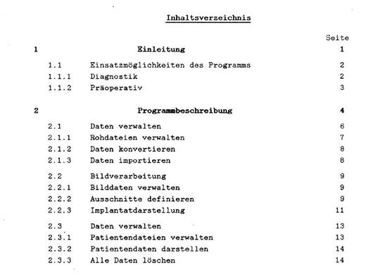 Es wurden alle Hyperlinks aus dem Inhaltsverzeichniss auf die Seiten und Leitziffern manuell erstellt