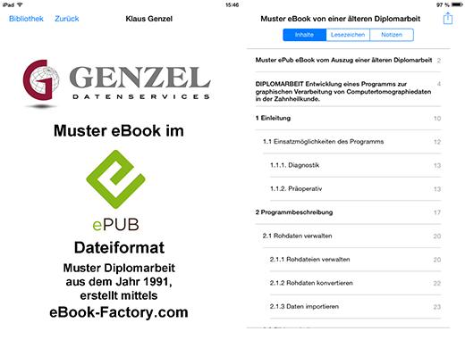"""Es wurden ein Inhaltsverzeichnisses mit Hyperlinks auf die Leitziffern erstellt, die Hyperlinks der Überschriften führen beim Apple iPad zum gerätspezifischen """"Table of Contents"""""""