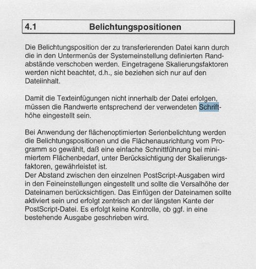 Gefundene Textpassagen werden exakt innerhalb des Adobe PDF Readers markiert.