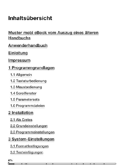 Handbuch im mobi Format der Amazon Kindle eBook Reader
